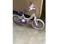 Girls 16 inch wheel bike