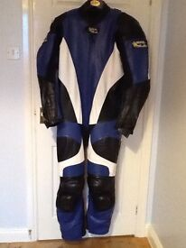GPL leathers blue white and black