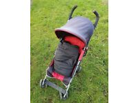Maclaren Quest stroller with footmuff and raincover