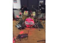 Fantastic Mapex kit champagne sparkle ex condition with soft cases