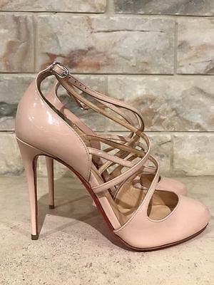 NIB Christian Louboutin Soustelissimo 100 Pink Ballerina Patent Heel Pump 36