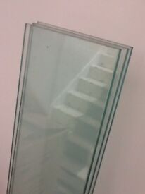 GLASS SHELVES. CLEAR GLASS. PIck up Chiswick. W4