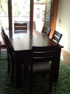 Dining Setting with 6 Chairs Thornleigh Hornsby Area Preview