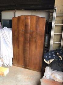 Vintage cherry wood wardrobe