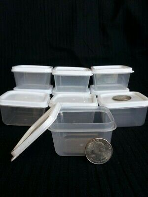 New 10 Mini Clear Plastic Small Boxes With Lid Container Storage Craft - Small Storage Boxes With Lids