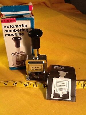 Vintage W.T. Rogers Automatic Numbering Machine Model 04213