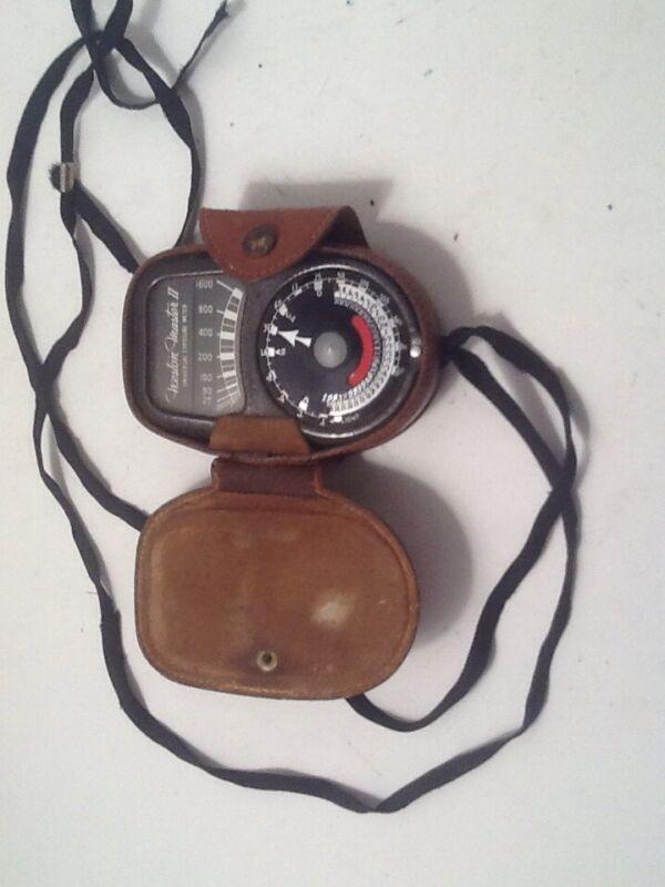Weston Master 2 Universal Exposure Meter Model 735 USA W/ Leather Case