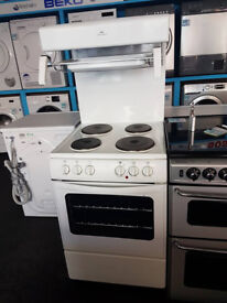 J635 white newworld 55cm solid ring electric high/eye level cooker comes with warranty