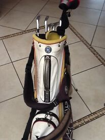 Set of clubs in bag