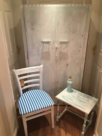 small shabby wardrobe