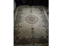 Antique Large Signed Persian Isfahan rug / carpet circa 1940's - Edinburgh
