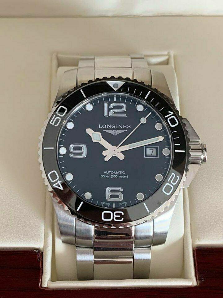 Longines – HydroConquest Automatic 41mm. Black Dial Ceramic Bezel - watch picture 1