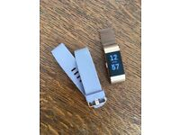 Fitbit Charge 2. Rose gold special edition. + rose gold band