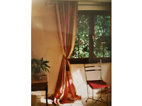Curtain Set - French made, pink- 10 curtains for 5 windows