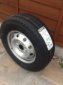 15 inch Vangocamper tyre/ wheel (Fiat Ducato)