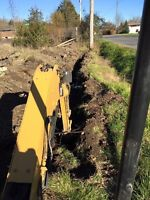 Trenching (hydro lines, sewers etc)