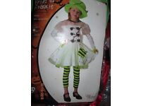 girls frankenstien includes dress , hat and leggings age 5/7 years party or world book day