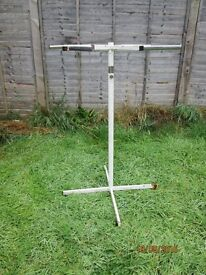 circular clothes rail old but very heavy great for carboots rail is 45 inch high