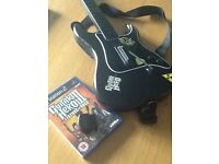 Guitar hero game and guitar for PS2
