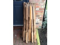 New Solid Oak spindles X 17 X 1000mm height