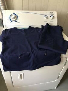 Ladies navy and black scrubs