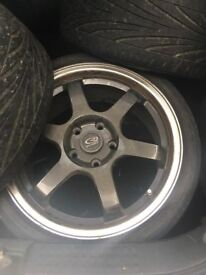 """Rota Grid Wheels With Tyres 16"""" 5 x 115"""