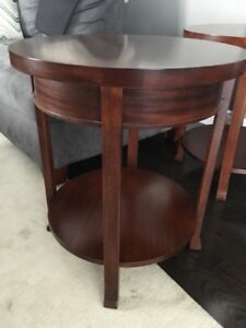 Solid Wood side tables x 2