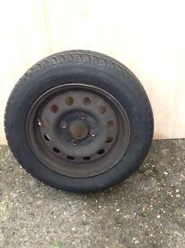 Ford Ka wheel and tyre