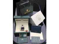 New Boxed black dial and silver bracelet Rolex milgauss Comes Rolex Bagged and Boxed With paperwork