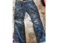 1 pair of original G star jeans 32 waist 30 leg