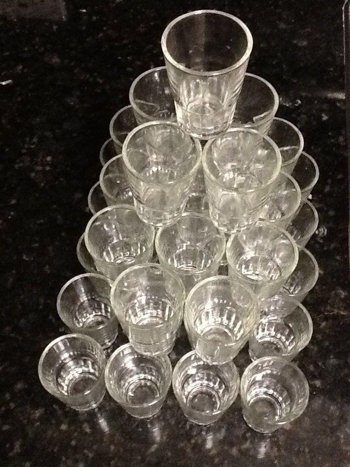 3 Doz Shot Glasses Glass Barware Shots Drink Whiskey Rum Bar
