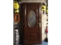 Lovely brown pvc door for sale,920mm X 2100mm...£125