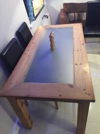 Solid Pine 6ft Table no chairs