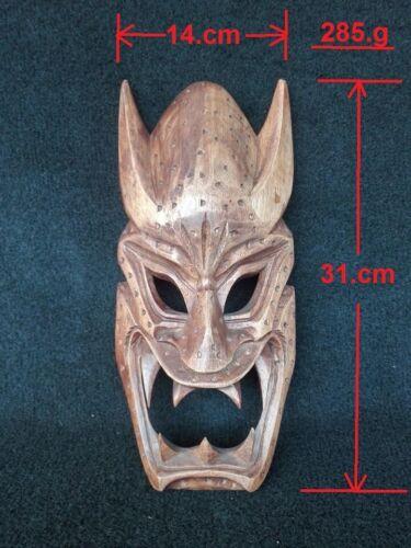Vintage Tribal Hand Carved Wood Demon Mask Philippines