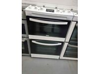 Zanussi 55cm Electric Cooker with ceramic hobs and fan assisted double oven- 6 Months warranty