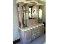 Beautiful hand painted display cabinet