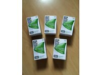 ** 5 x Boxes Of 105 Pieces Of Nicorette 4mg Sugar Free Gum Nicotine = 525 Pieces New Unopened **