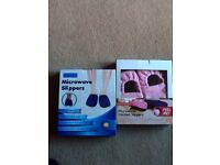 2 Pair of Microwave Heated Slippers