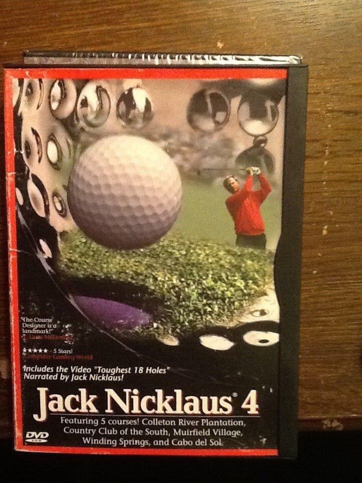 Jack Nicklaus 4 DVD  - $4.25