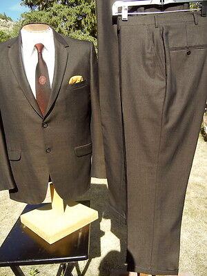 Vintage 1960s Suit 40R 31x29 - Shiny Golden SHARKSKIN w/ 2 pair Pants