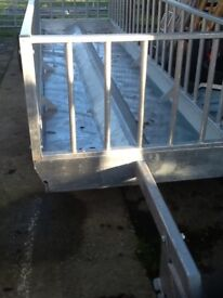 Sheep feed trailer. Fully galvanised. Brand new.