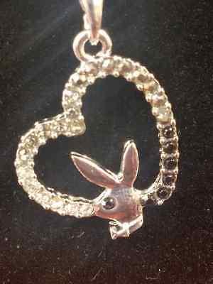 Playboy Bunny Hearts (3PCS Black Playboy Heart Bunny Necklace Pendant with 18