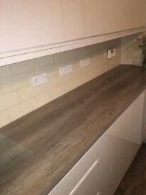 300cmx90cm grey oak laminate worktop