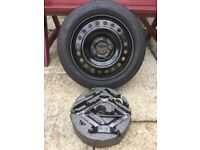 VAUXHALL INSIGNIA 2008 > 2017 SPACE SAVER SPARE WHEEL 17 + JACK PACK