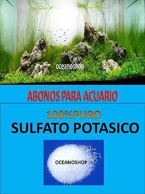SULFATO POTASICO 480GR ABONO PARA ACUARIO PLANTADO PLANTAS PECERA ABONADO