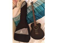 VINTAGE ELECTRO ACOUSTIC BASS - THRU BLACK