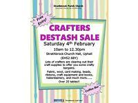Crafters Destash Sale - Saturday 4th February