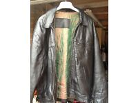 Mans leather jacket to clear