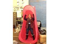 Pink spray tan tent