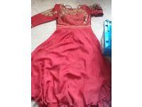 Ladies Maroon long dress